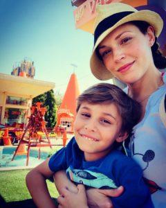 Аманда Ригетти с сыном